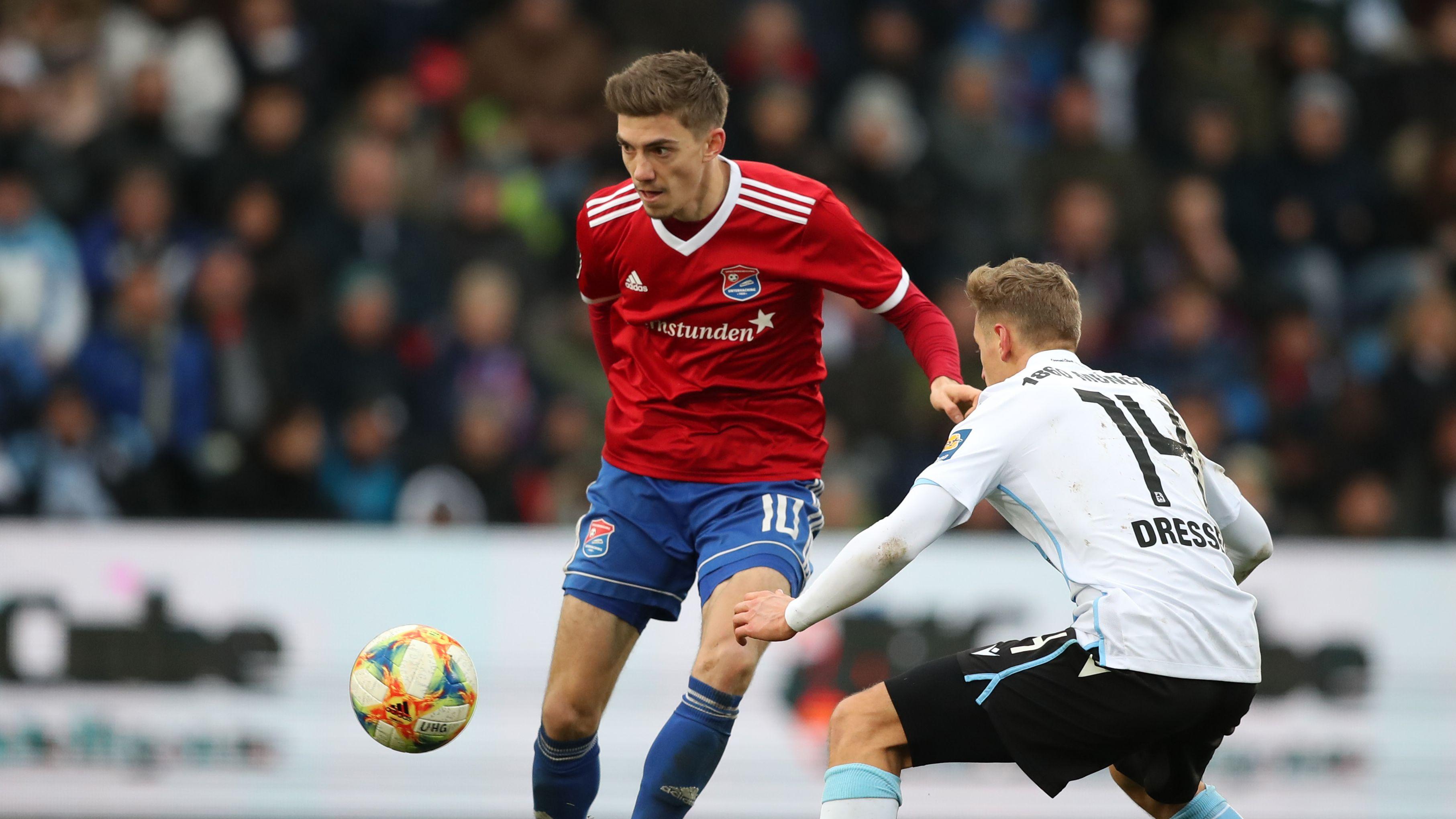 Spielszene 3.Liga, SpVgg Unterhaching - TSV 1860 München