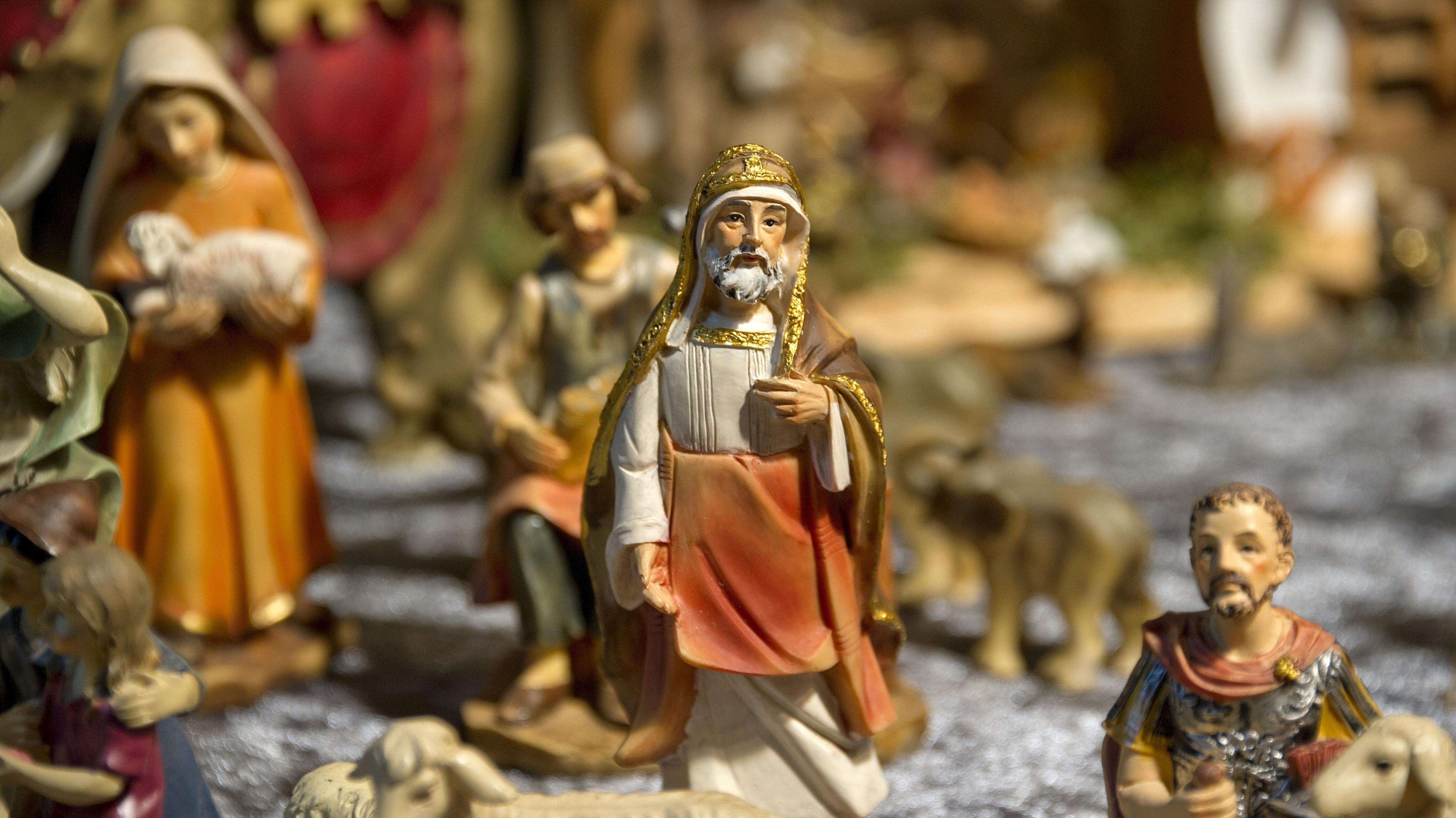 Krippenfiguren, Weihnachtsmarkt, Schloss St. Emmeram