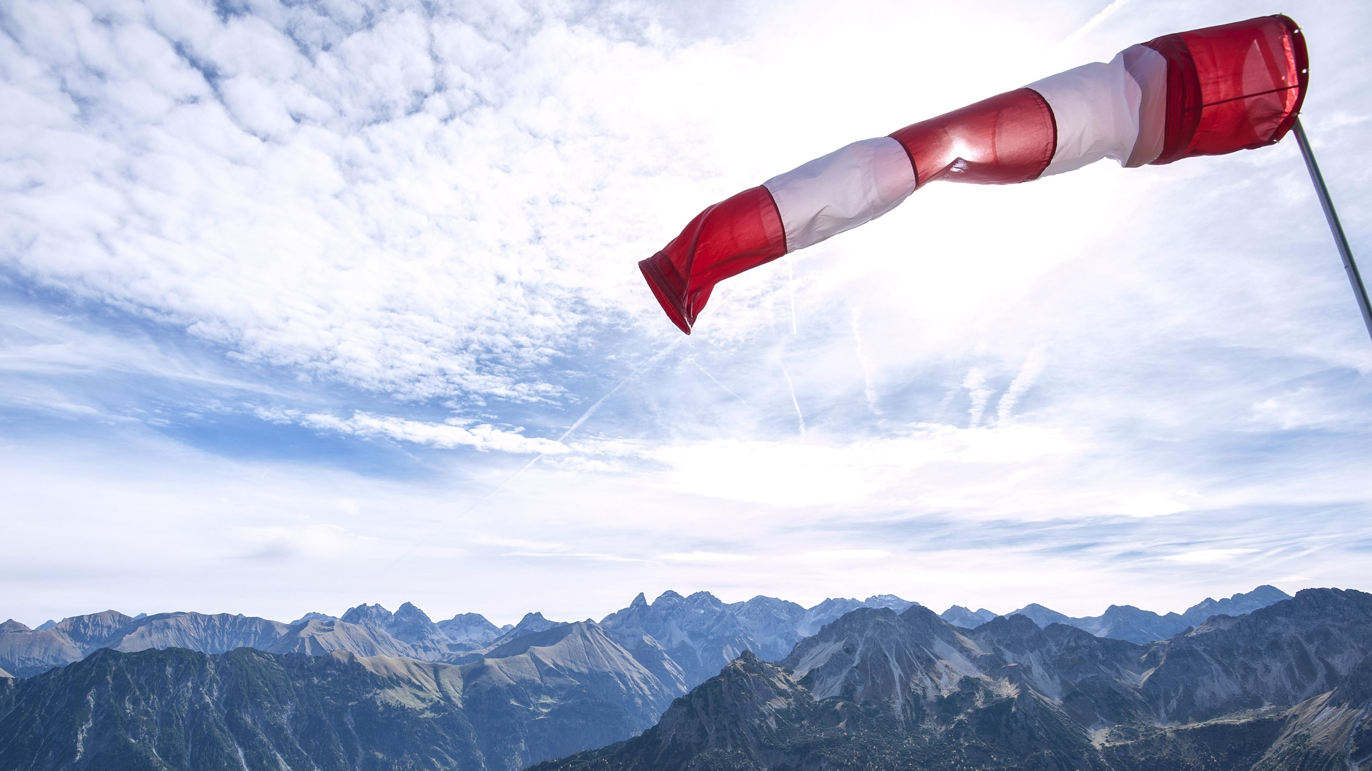 Windhose in den Alpen