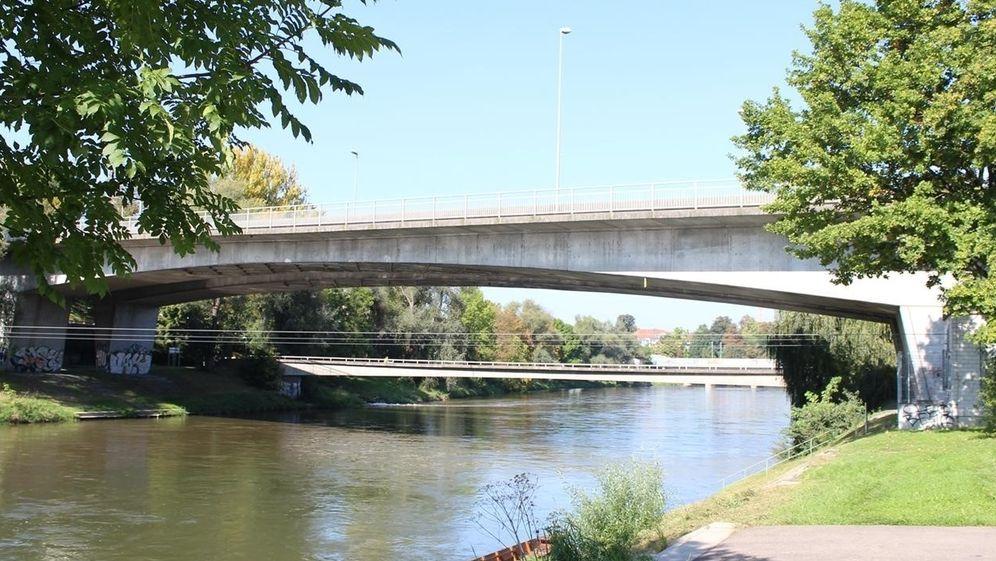 Die Adenauerbrücke in Neu-Ulm