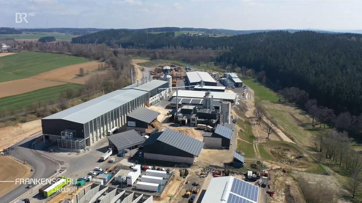 Blick auf den Wunsiedler Energiepark von oben.