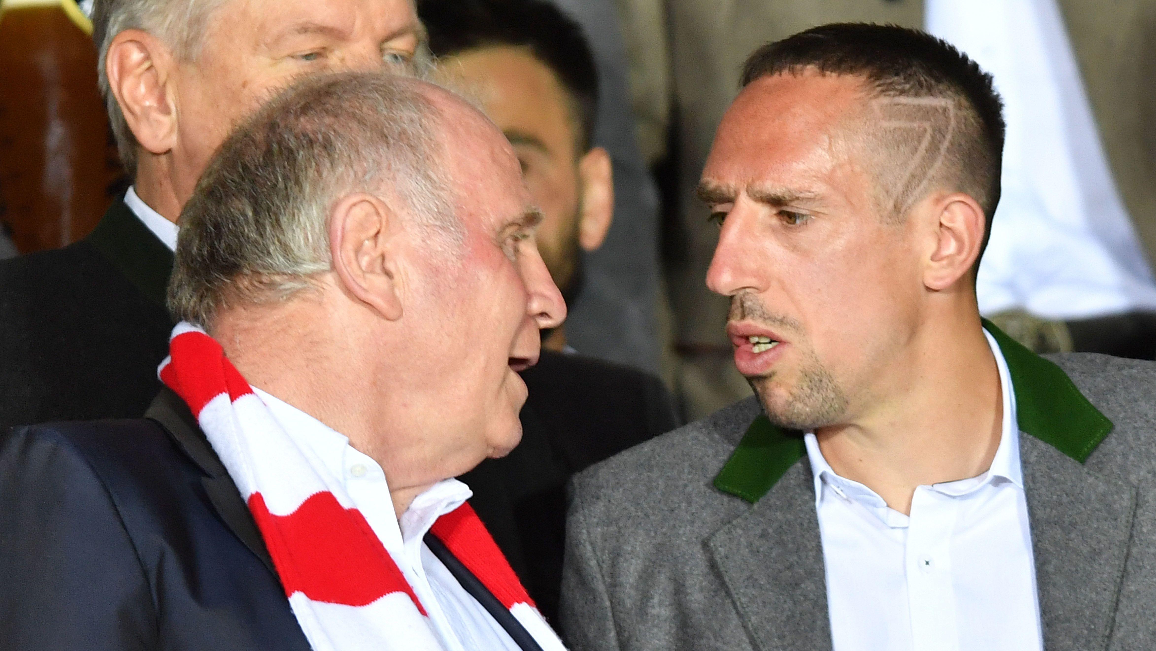 Uli Hoeneß und Franck Ribéry
