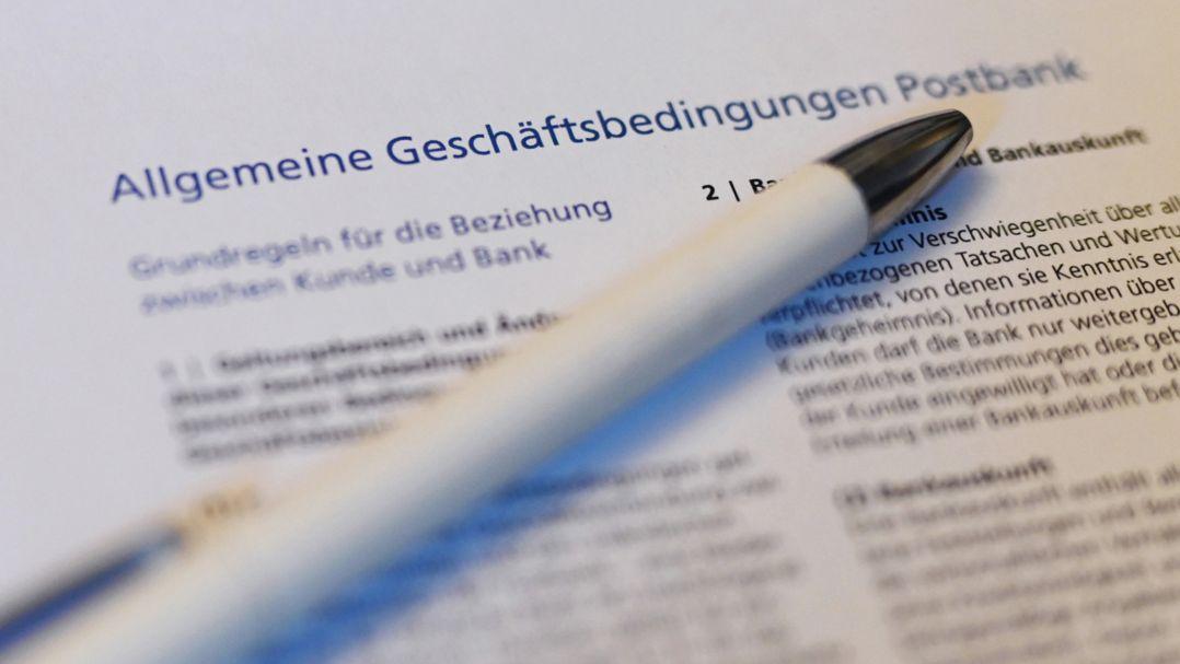 Vertragsunterlagen mit AGB-Klauseln