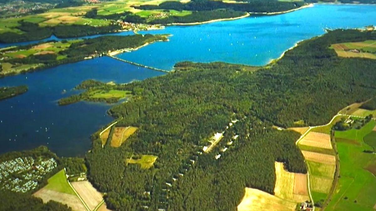 Luftbild des Brombachsees