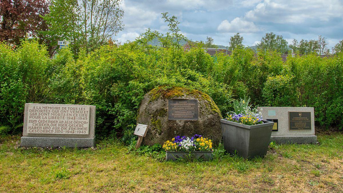 Gedenkstein an das Konzentrationslager in Hersbruck