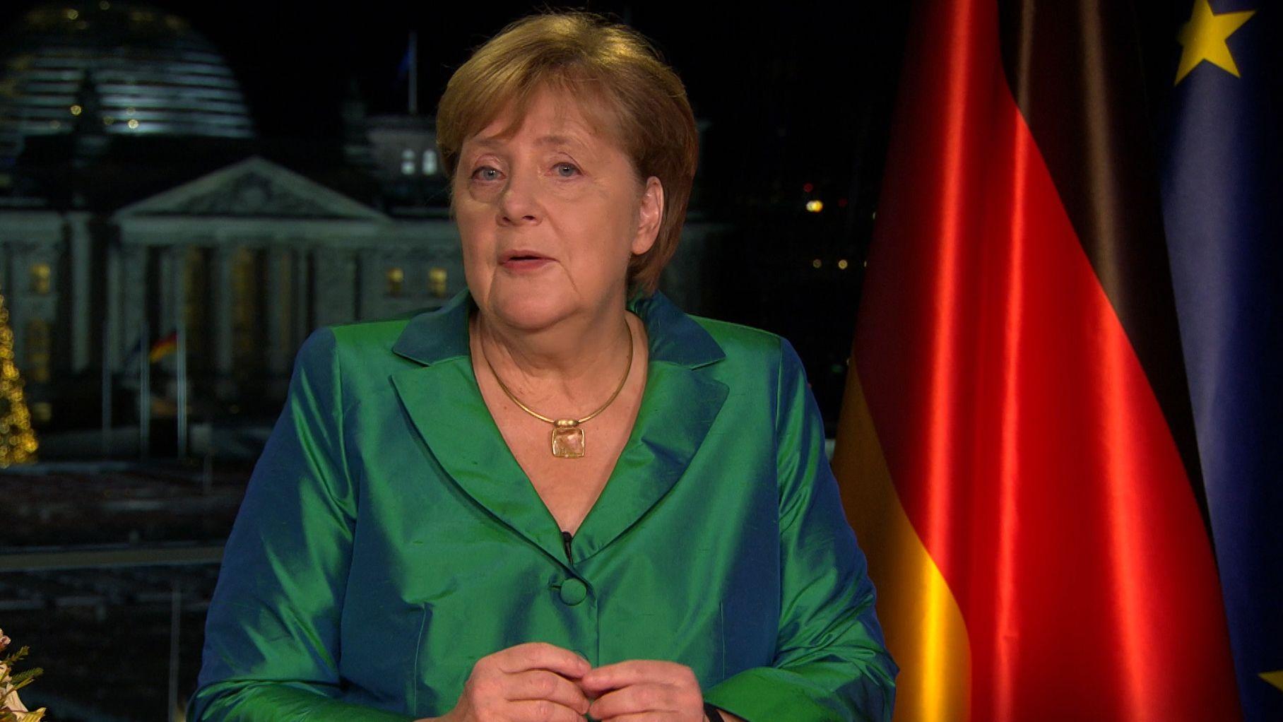 Angela Merkel bei ihrer Silvesteransprache