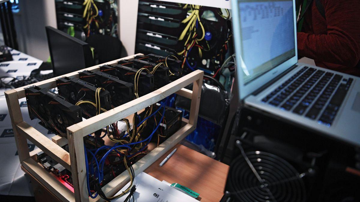 """Eine Installation zum """"schürfen"""" von Bitcoins"""