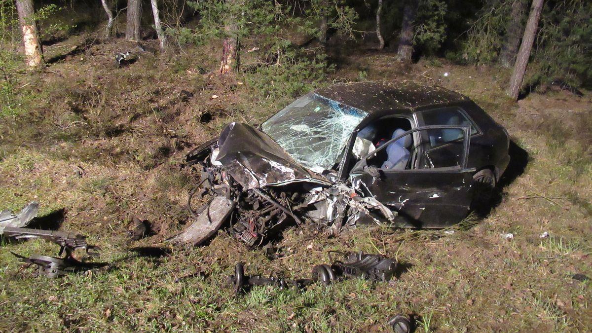 Das Unfallfahrzeug des 34-Jährigen.