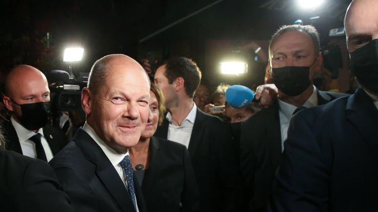 SPD auf Siegerkurs - Mehrere Koalitionen möglich   Bild:pa/dpa
