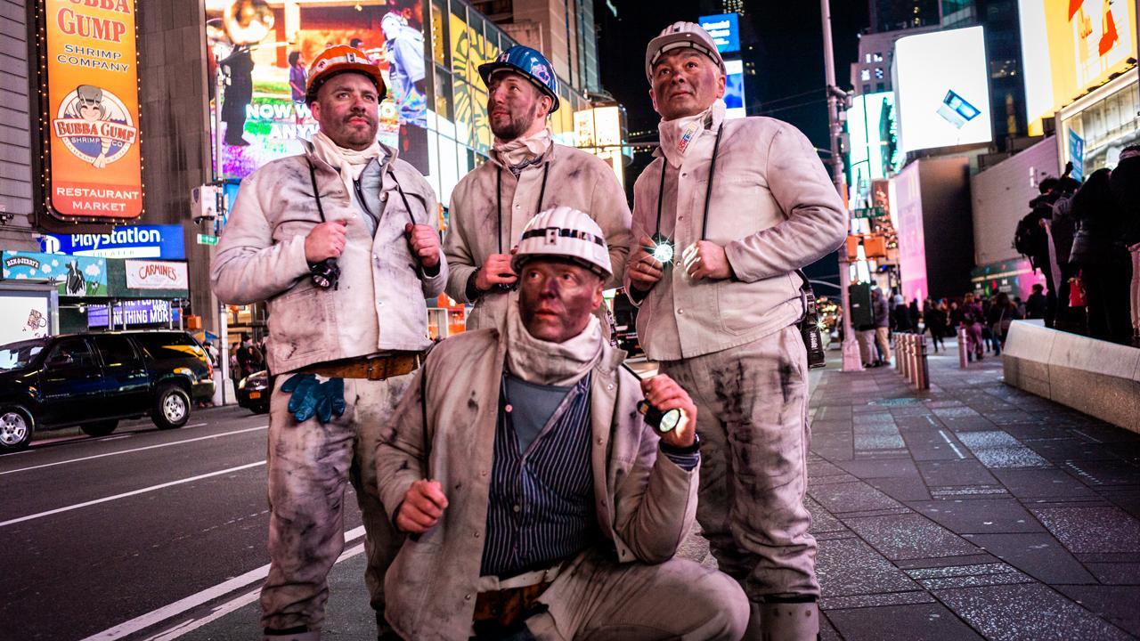 Das Modelabel Grubenhelden am Times Square