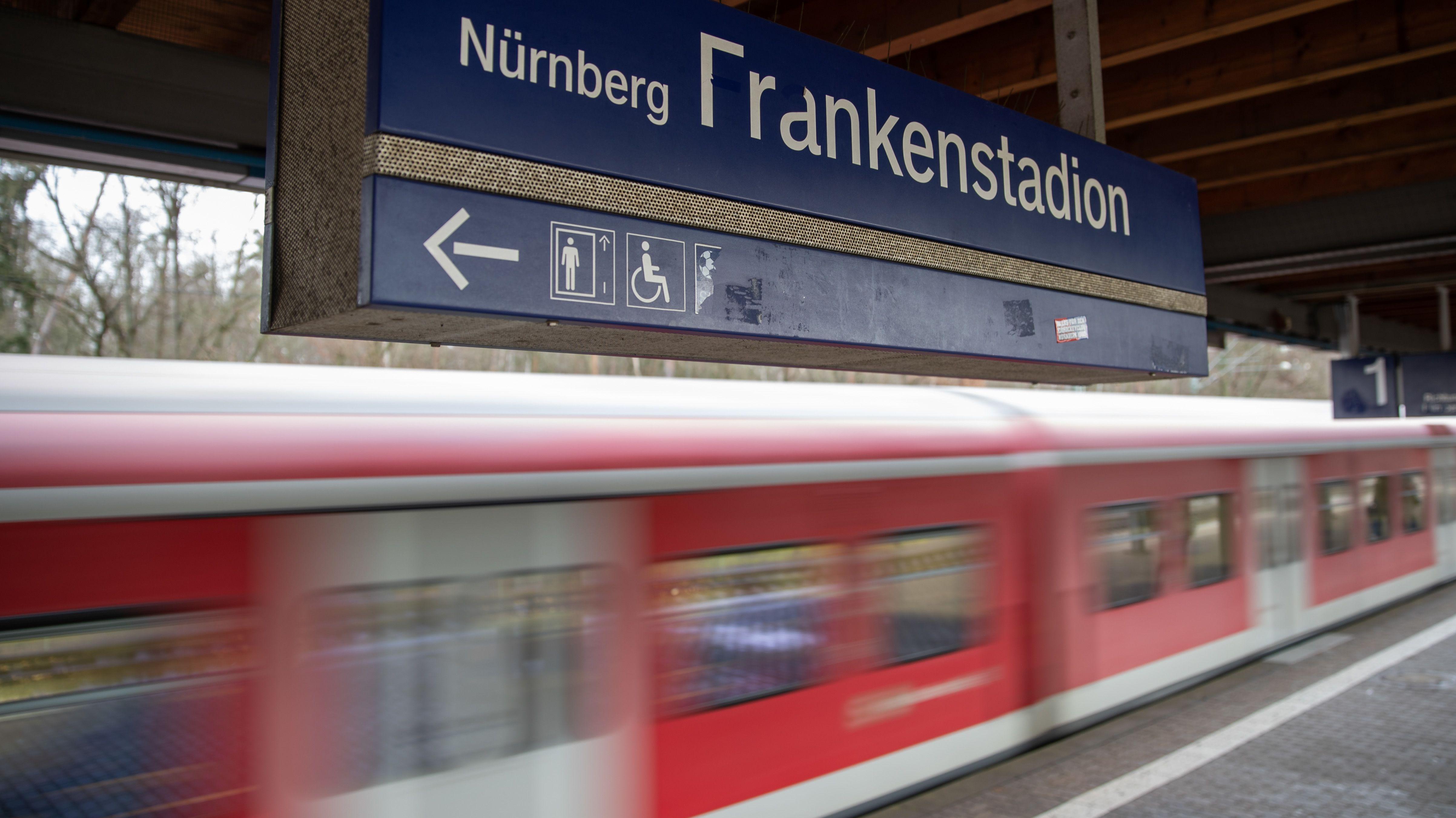 S-Bahn-Haltestelle Frankenstadion in Nürnberg