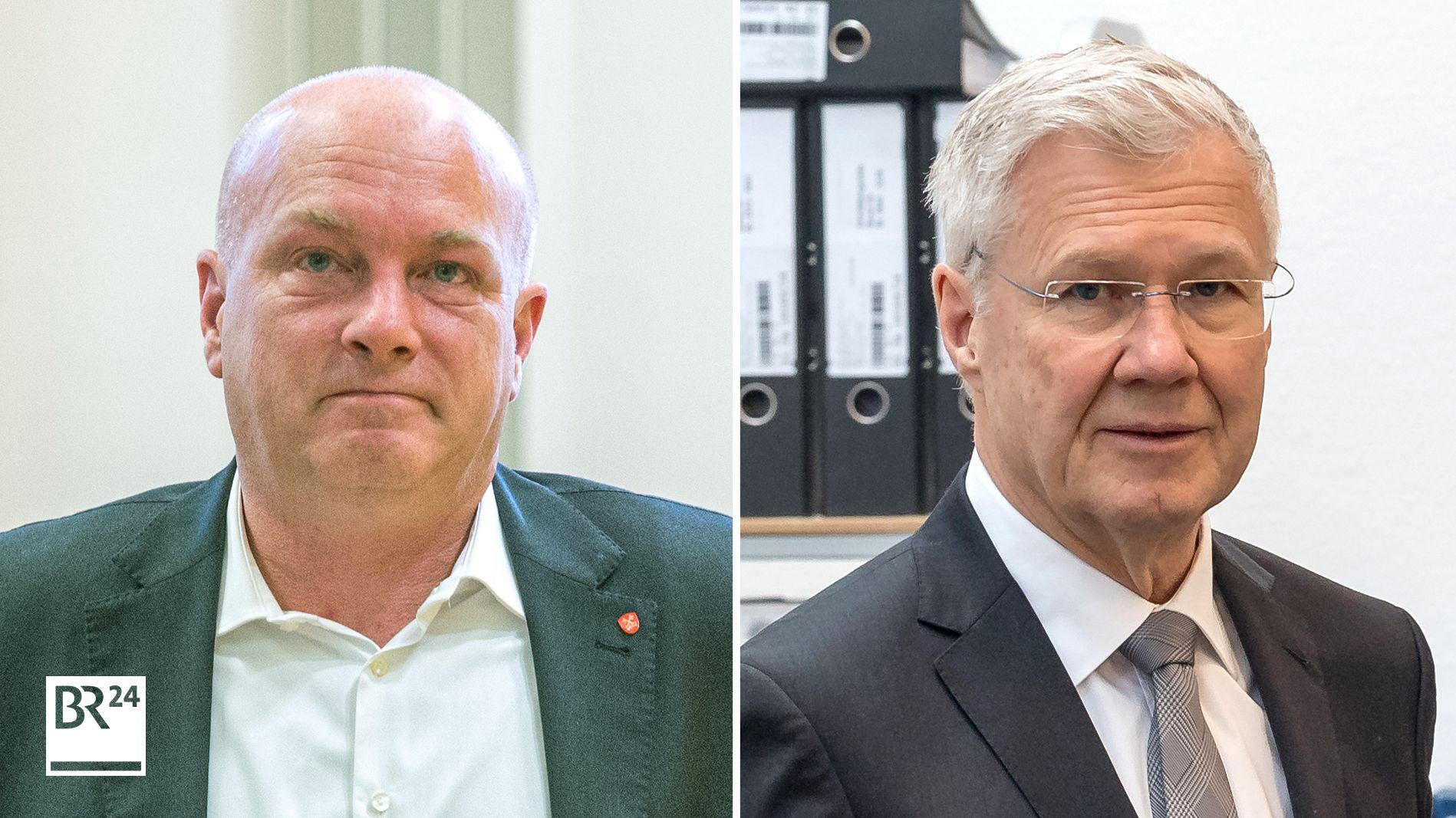 Joachim Wolbergs (links) und Alfred Lehmann (rechts): Zwei ehemalige Oberbürgermeister stehen vor Gericht.