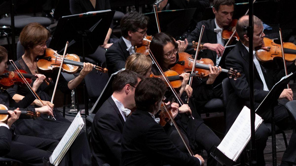 Geiger des Symphonieorchesters des Bayerischen Rundfunks