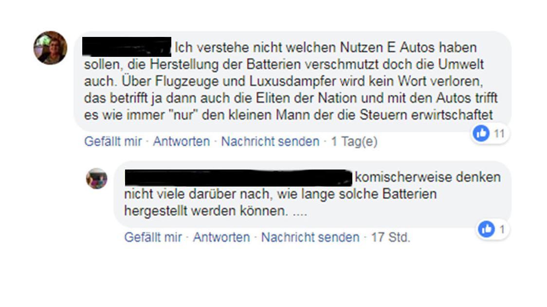 Kommentare auf BR24-Facebook