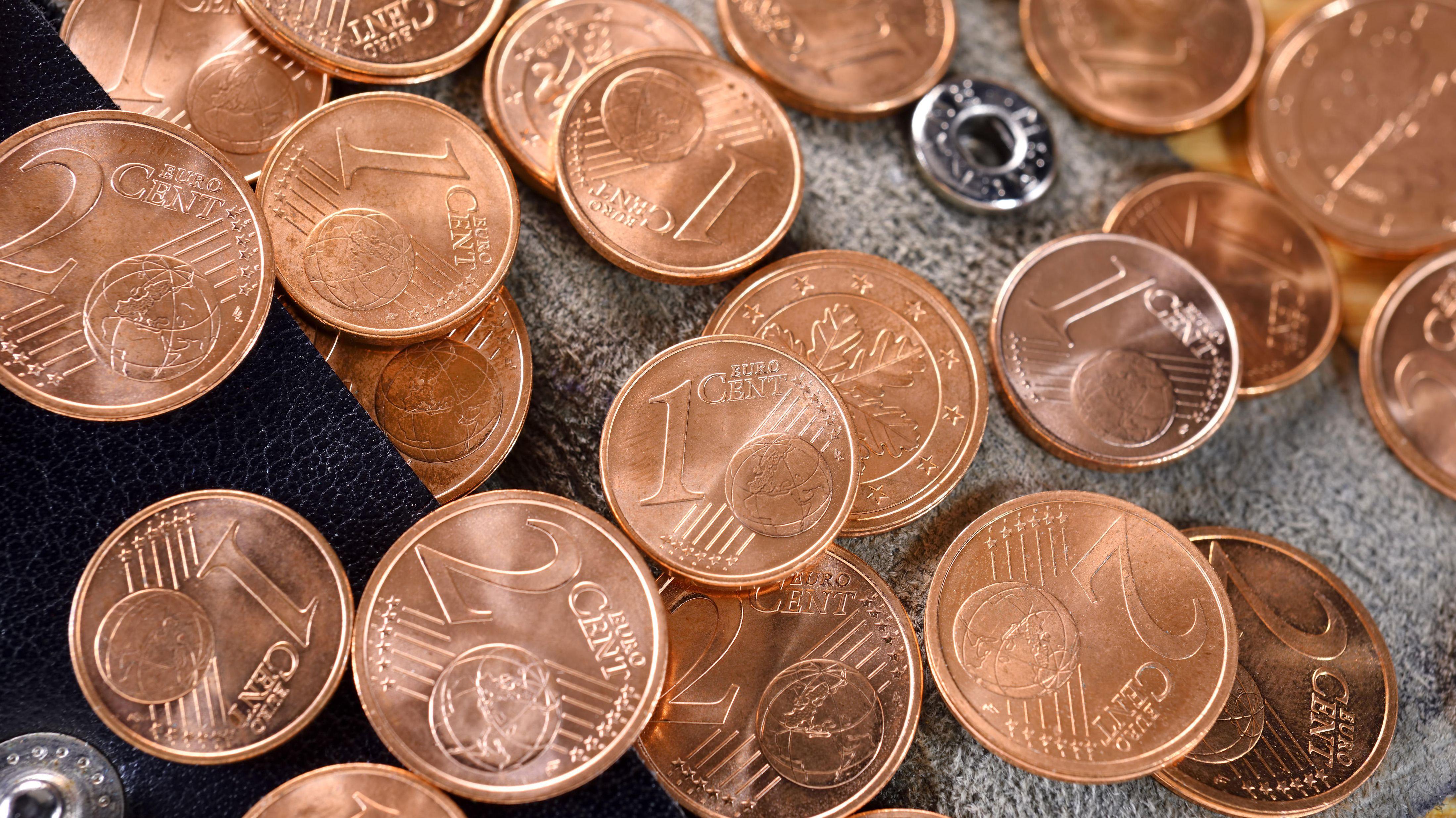 Ein- und Zwei-Cent-Münzen
