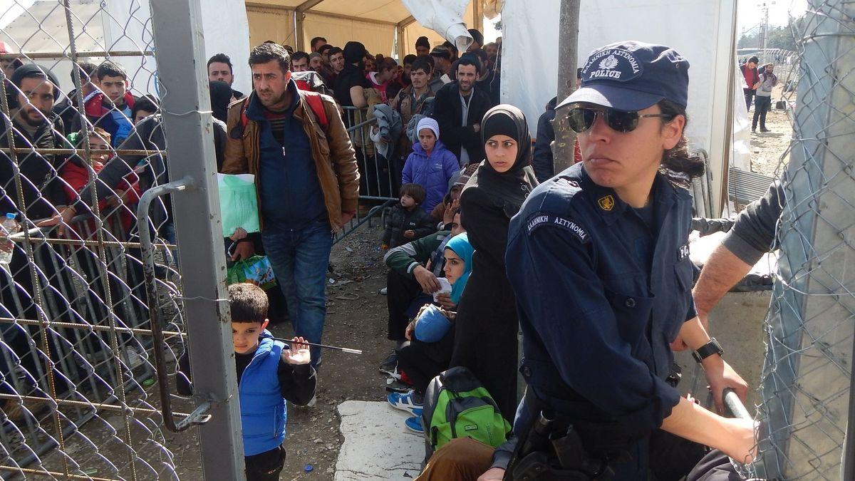 23. Februar 2016, Grenze Griechenland/Nordmazedonien.