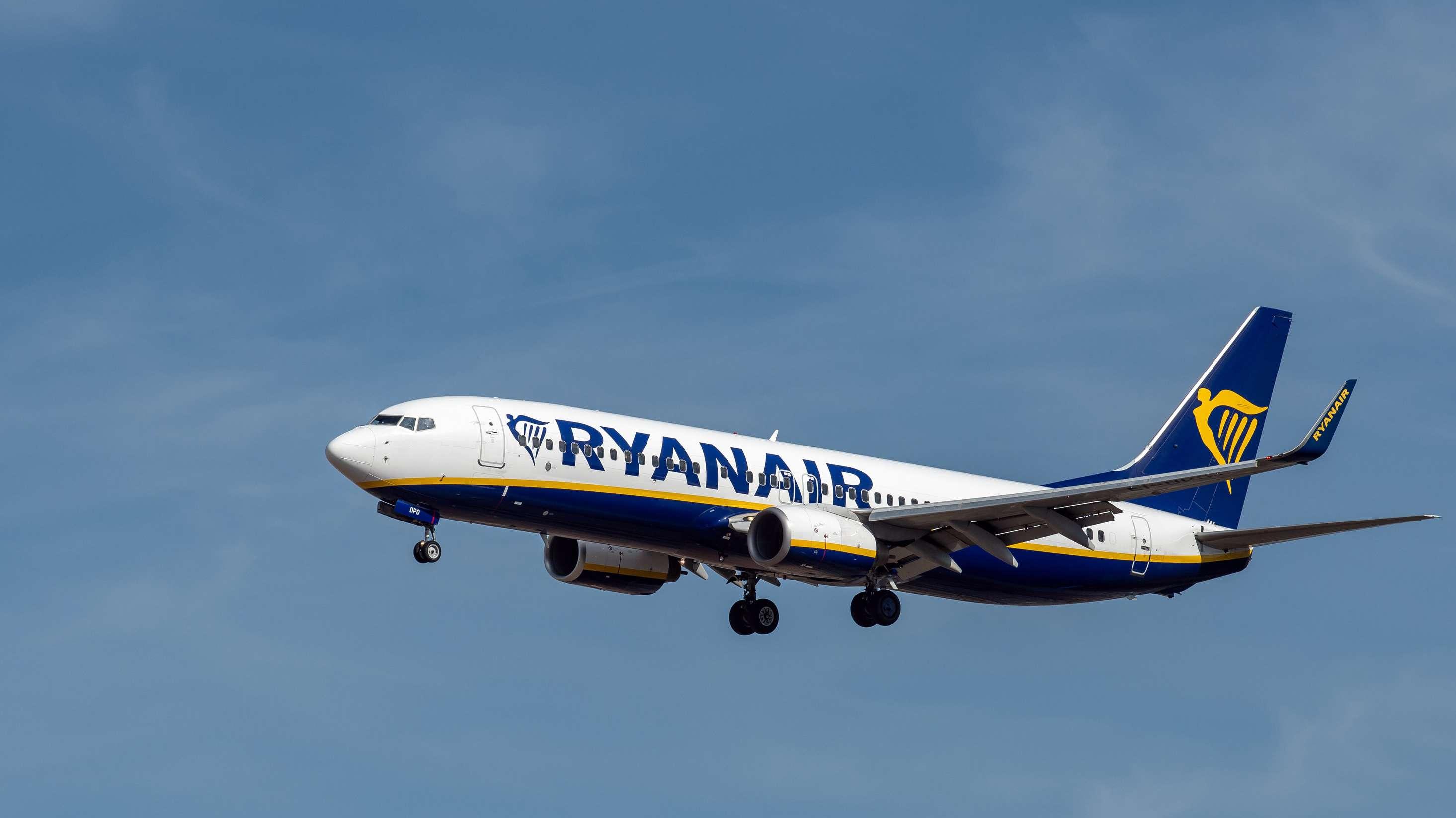 Ryanair-Maschine beim Flug