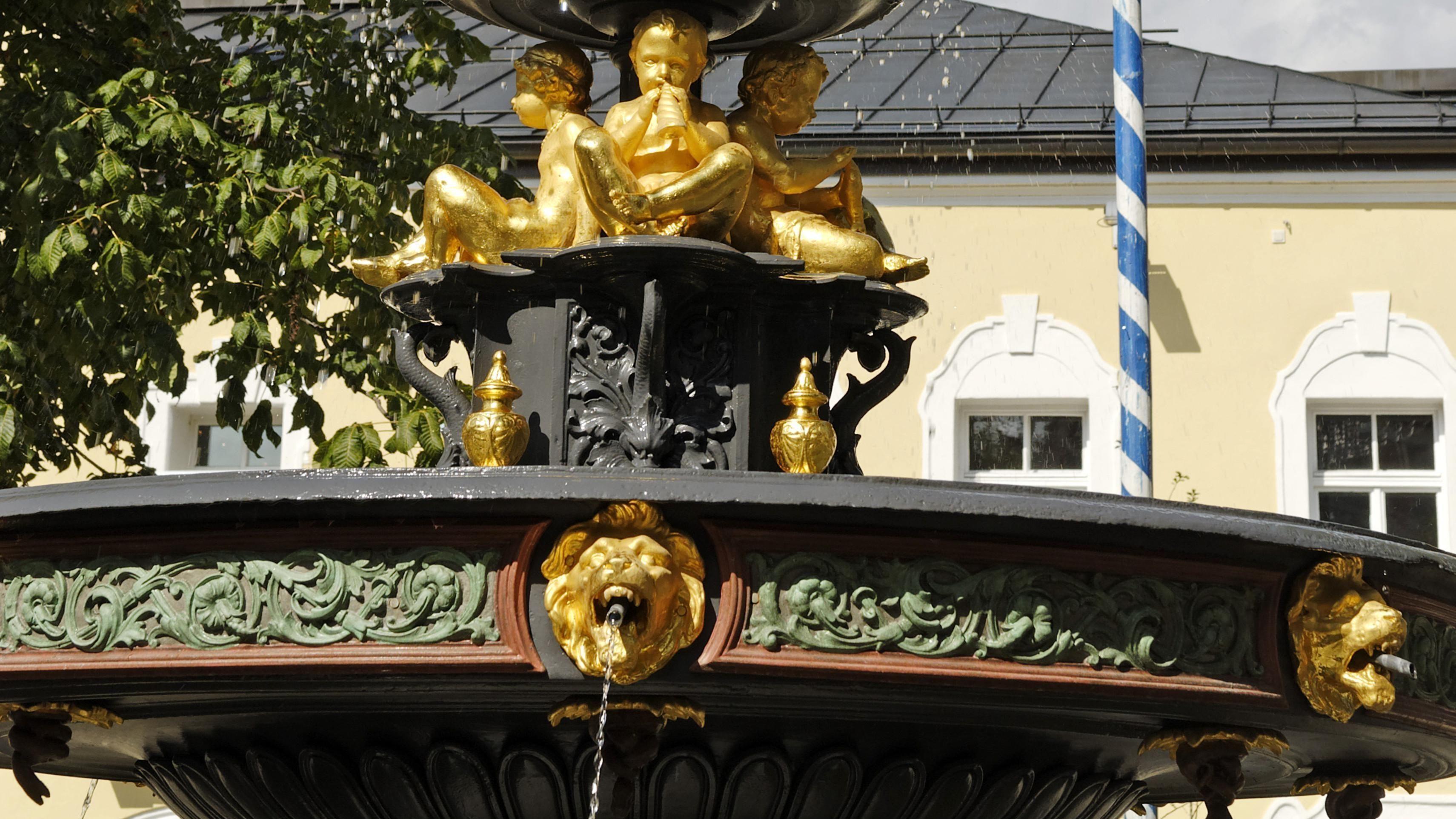 Der Brunnen am Stadtplatz Viechtach