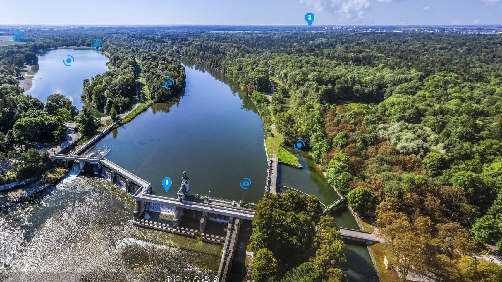 Startbildschirm 360°-Panorama-Tour zu Augsburgs Welterbestätten: Der Hochablass