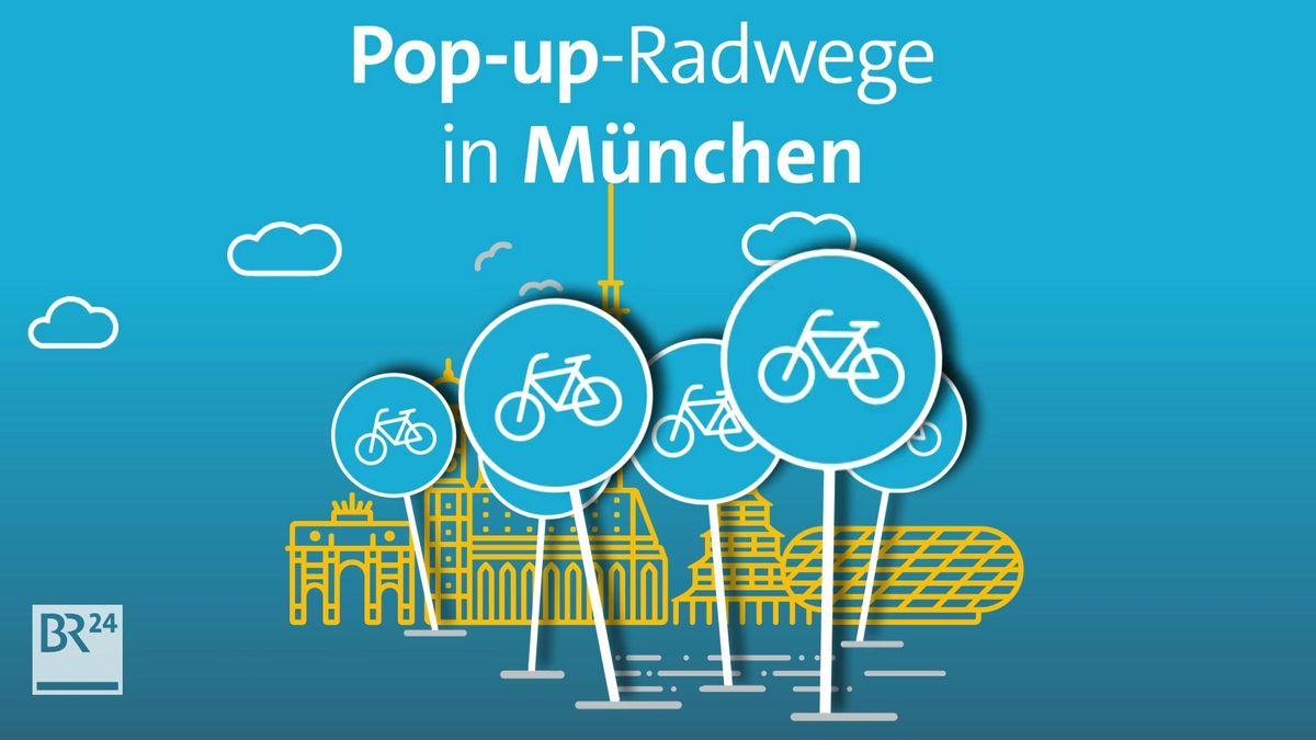 Grafik Pop-up-Radwege in München