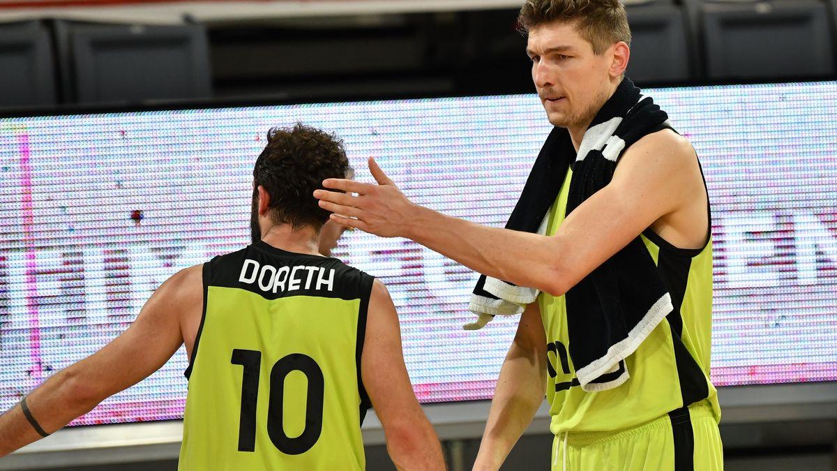 Rutschten in der Tabelle mit ihrem Team ab: die beiden Medi-Spieler Bastian Doreth (links) und Andreas Seiferth.