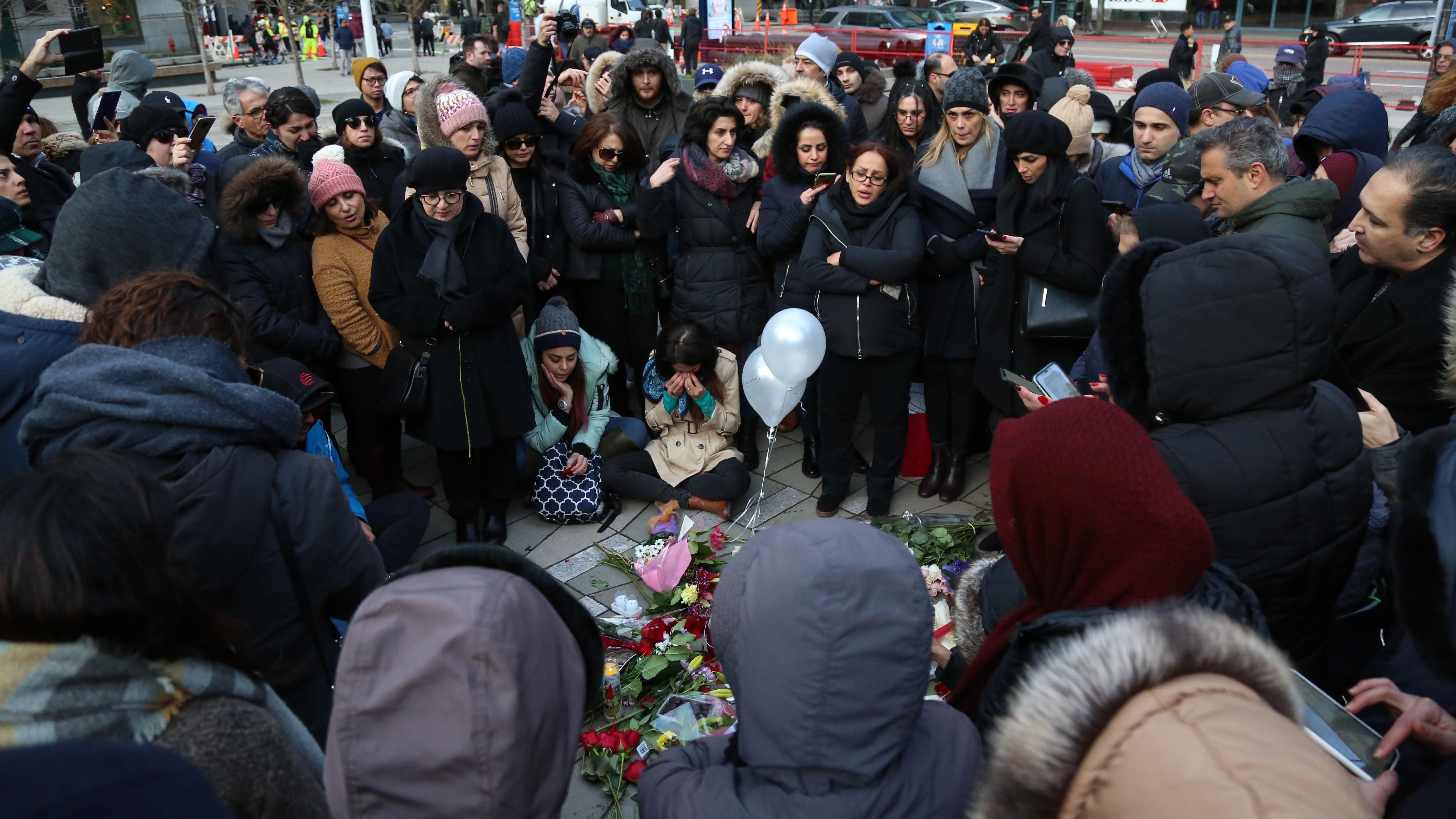 Demonstration und Gedenken für die Opfer des Flugzeugabsturzes, Teheran