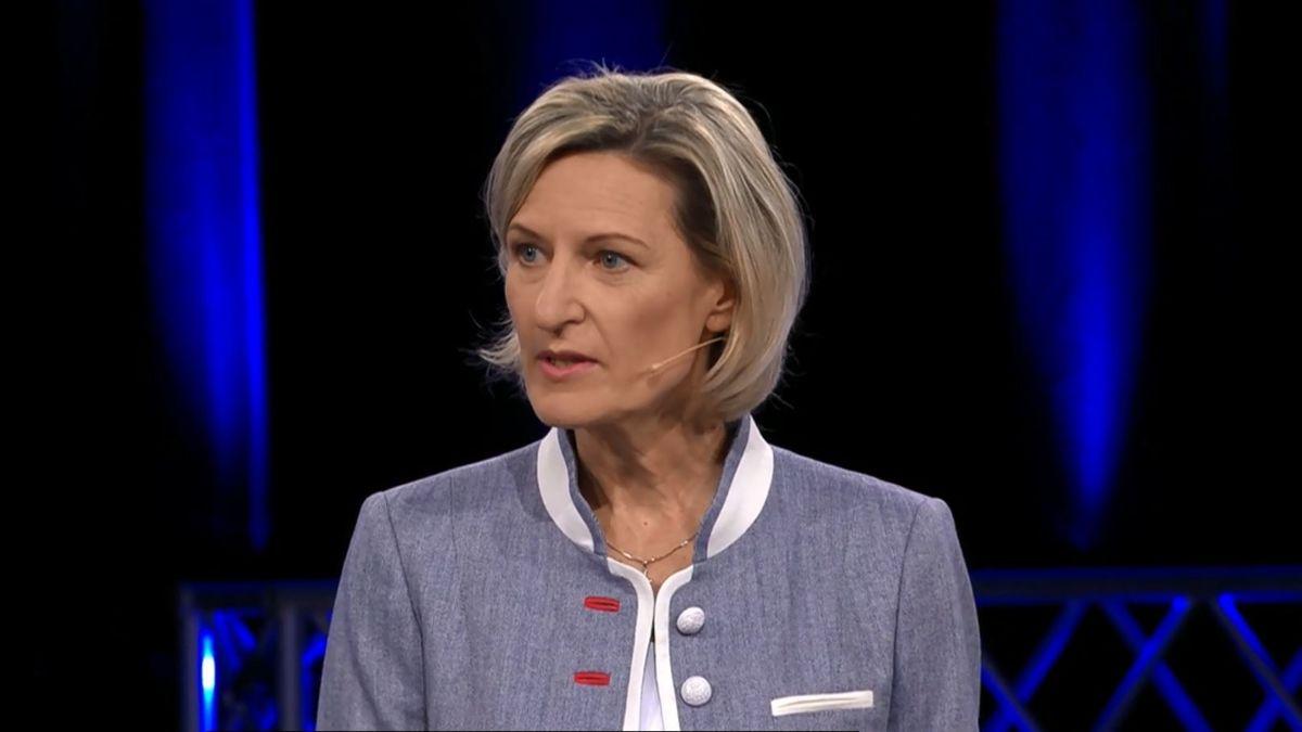 Angelika Niebler von der CSU in der BR Wahlarena.