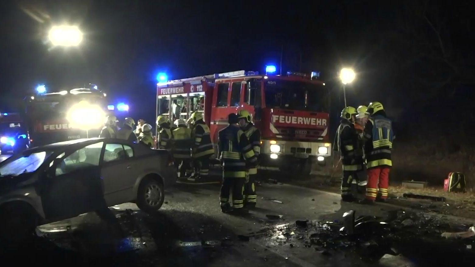 Unfallstelle auf der Staatsstraße zwischen Selbitz und Weidesgrün