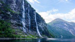 Geirangerfjord bei Bergen in Norwegen   Bild:dpa-Bildfunk/ André Goerschel