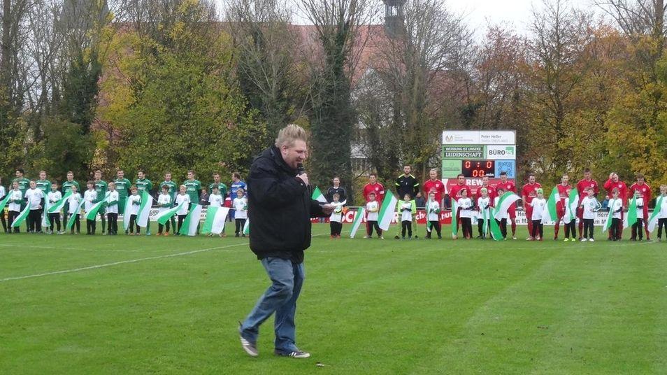 SG Herrieden: Stadionsprecher Harald Köhler im Einsatz