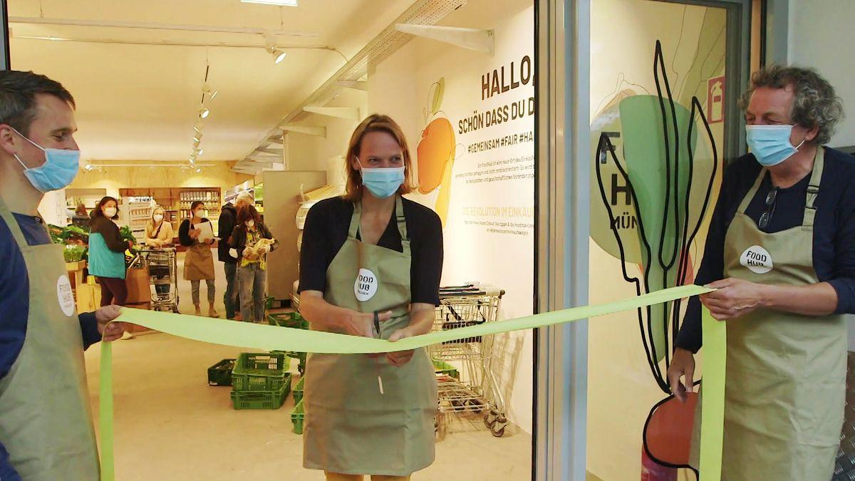 """Am 8. Juli hat der Mitmach-Supermarkt """"Foodhub"""" München in Obergiesing eröffnet."""