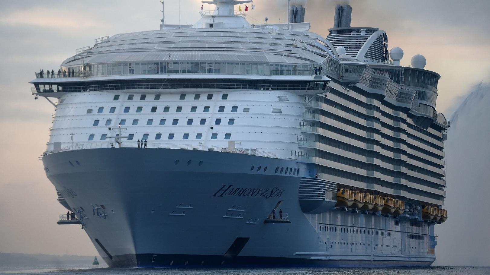 Das Kreuzfahrtschiff Harmony of the Seas der Reederei Royal Caribbean.