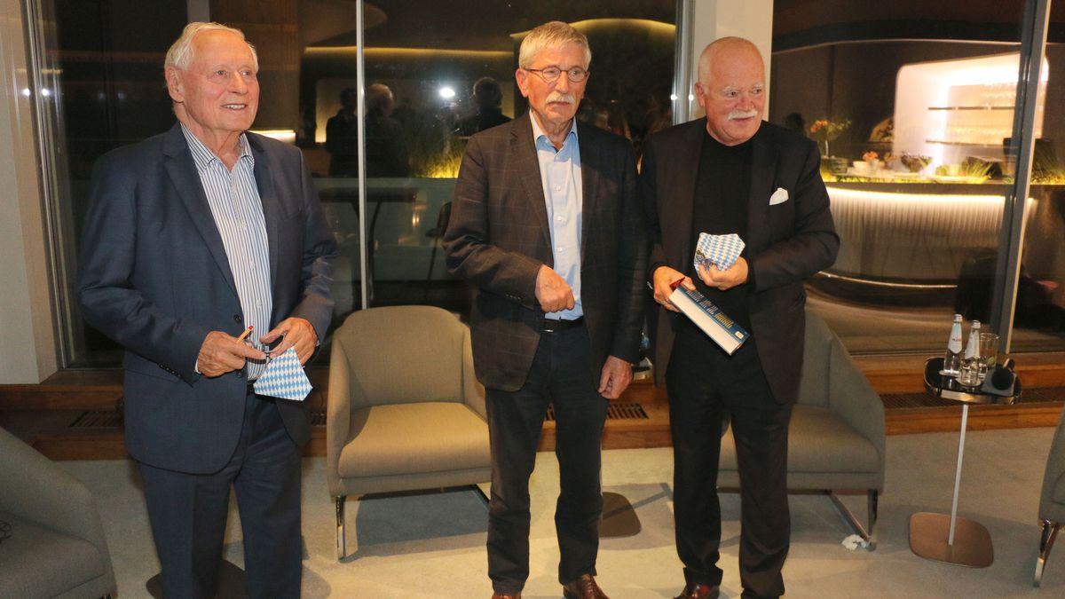 Die drei Politiker nach der Diskussion