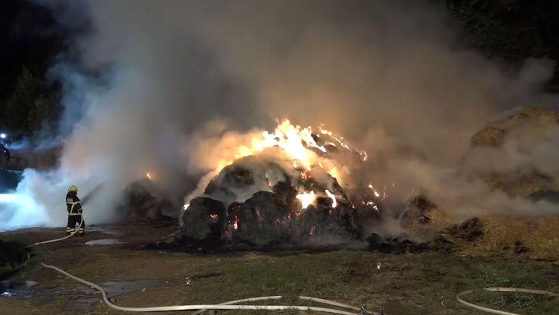 Heuballenbrand in Miltenberg