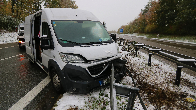 Unfall am 28.10.2018 auf der A7 bei Bad Grönenbach.