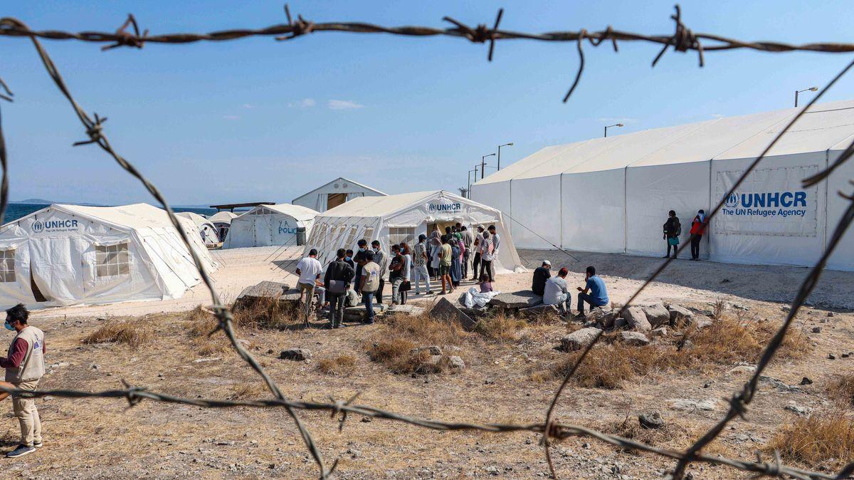 Lager Karatepe auf Lesbos-