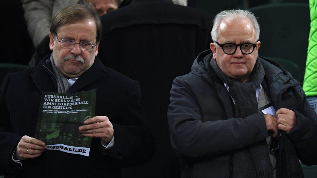 DFB-Vizepräsident Rainer Koch und DFB-Präsident Fritz Keller