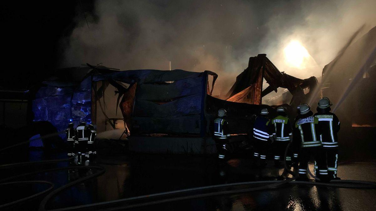 Nach Brand in Lagerhalle – 10 Millionen Euro Sachschaden