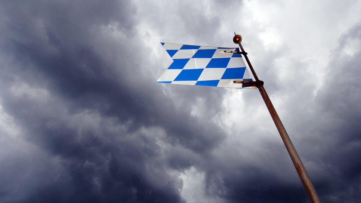 Eine bayerische Flagge