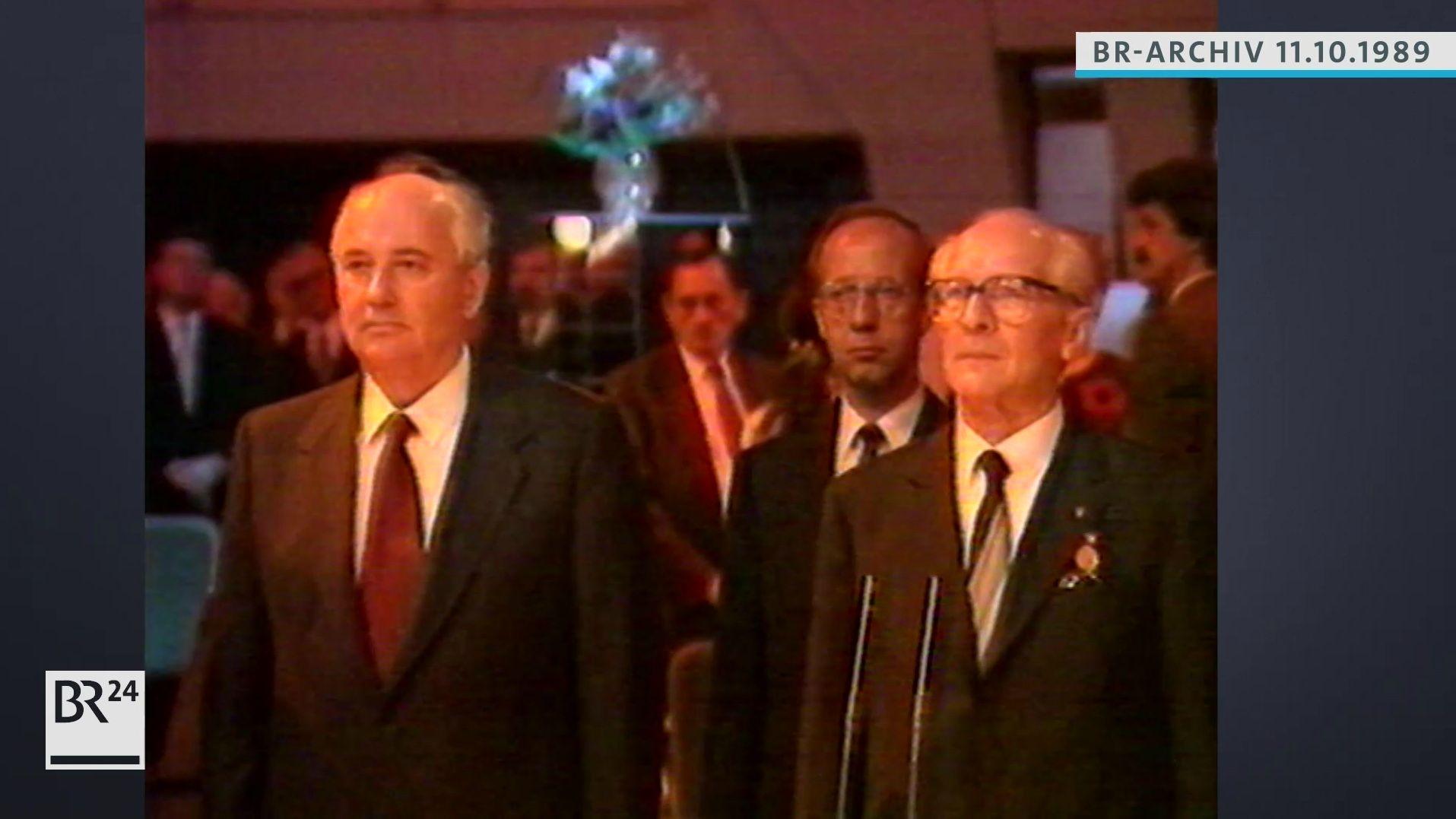 Michael Gorbatschow und Erich Honecker