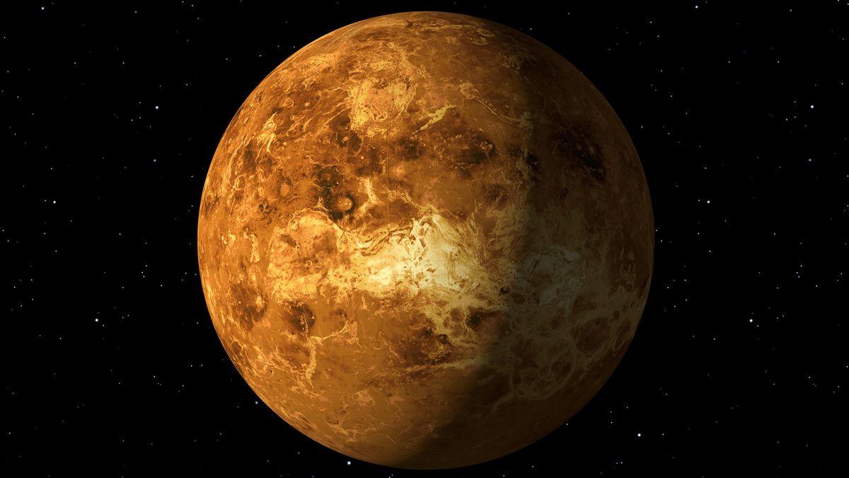 Die Venus - einer von vier erdähnlichen Planeten.