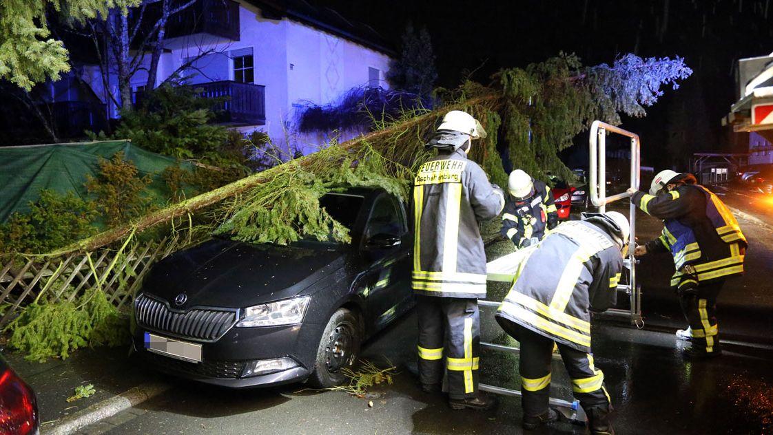 Sturmeinsatz der Feuerwehr Aschaffenburg