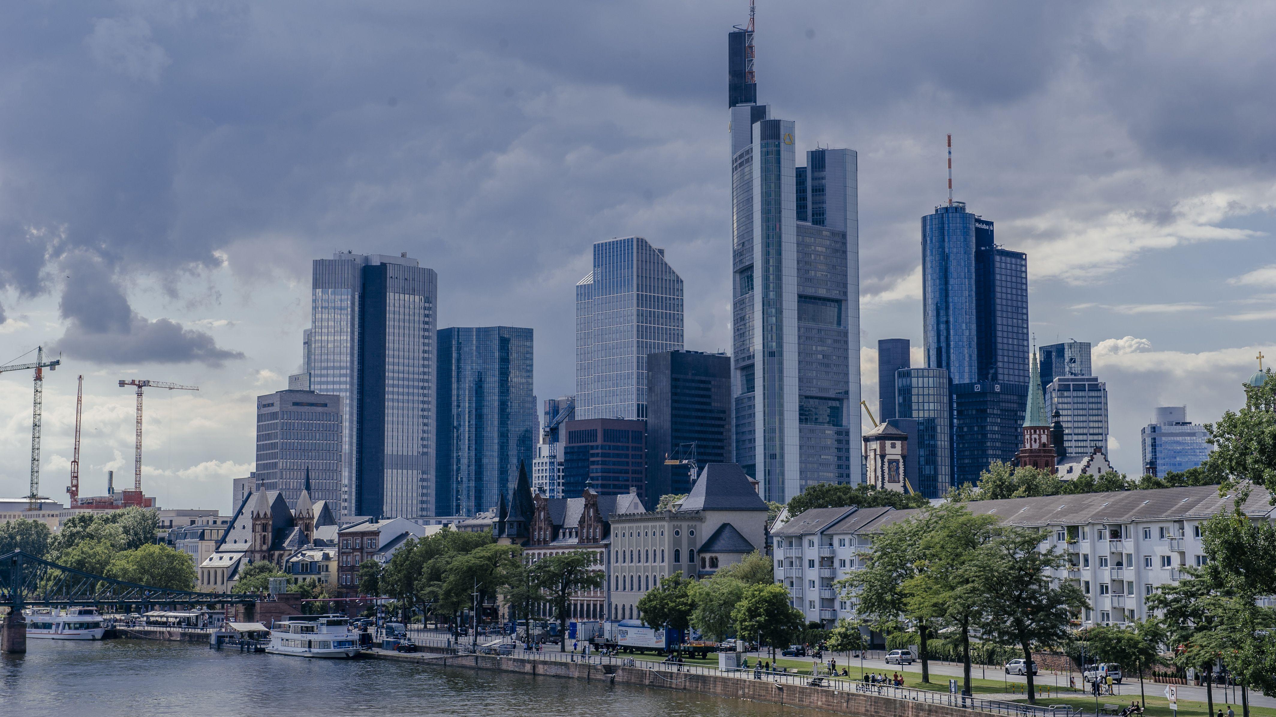 Blick auf die Stadt Frankfurt