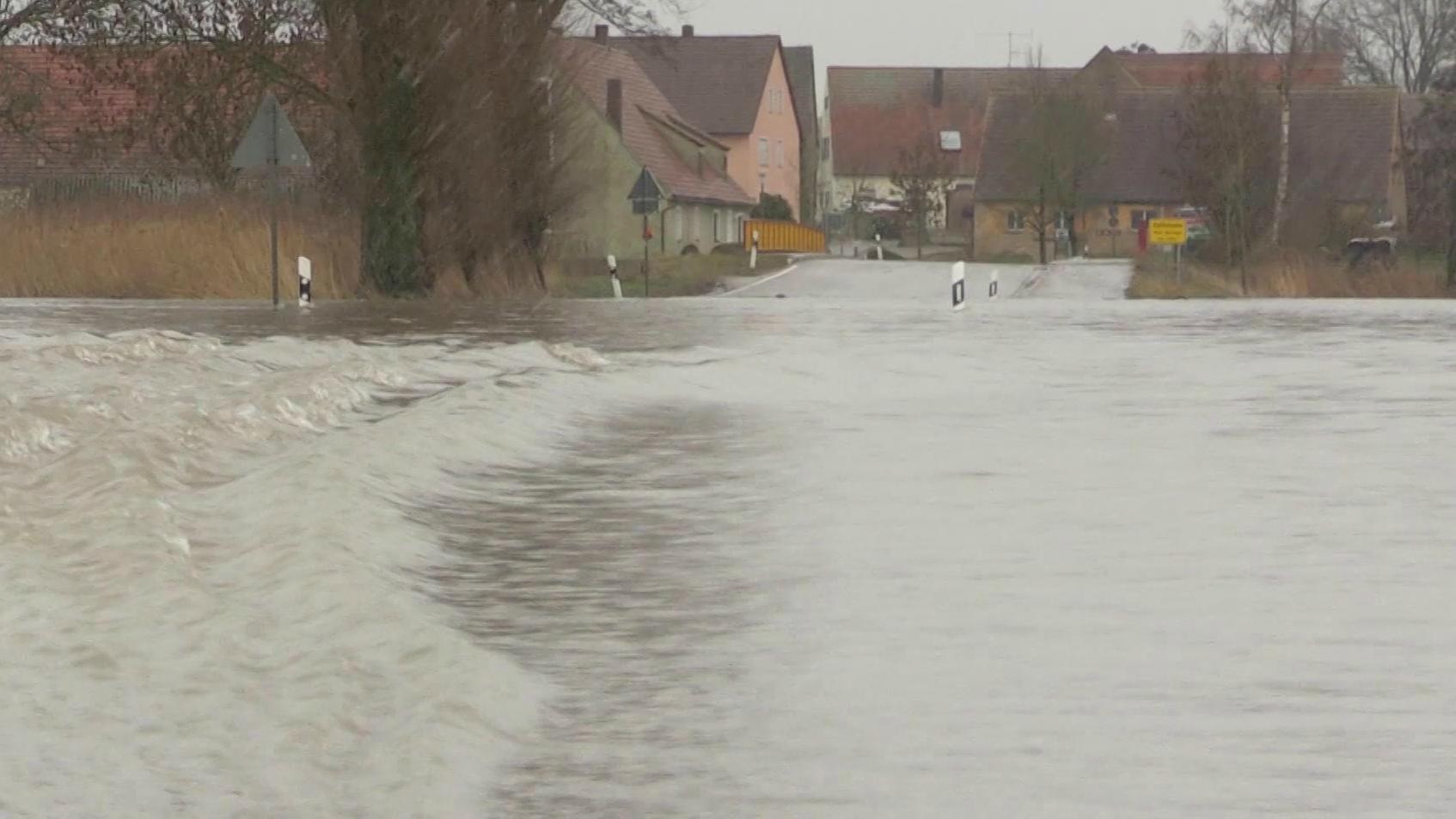 Überschwemmte Straße