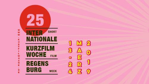 Plakat zur Internationalen Kurzfilmwoche in Regensburg