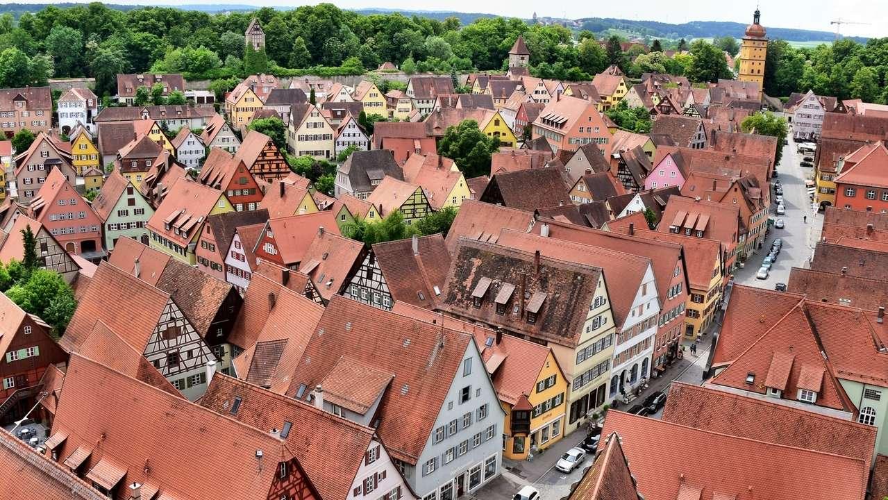 Blick vom Dinkelsbühler Münster auf die Stadt