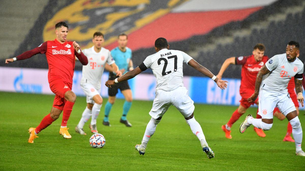 Spielszene Salzburg gegen FC Bayern München