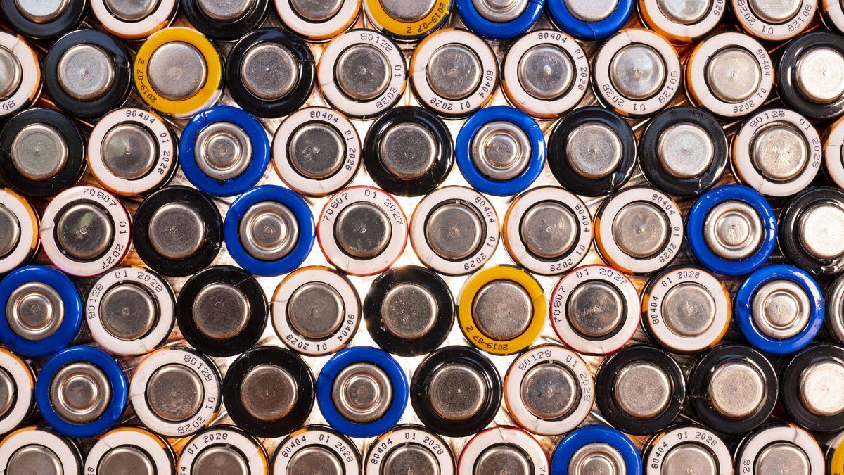 Batterien aufeinander gestapelt