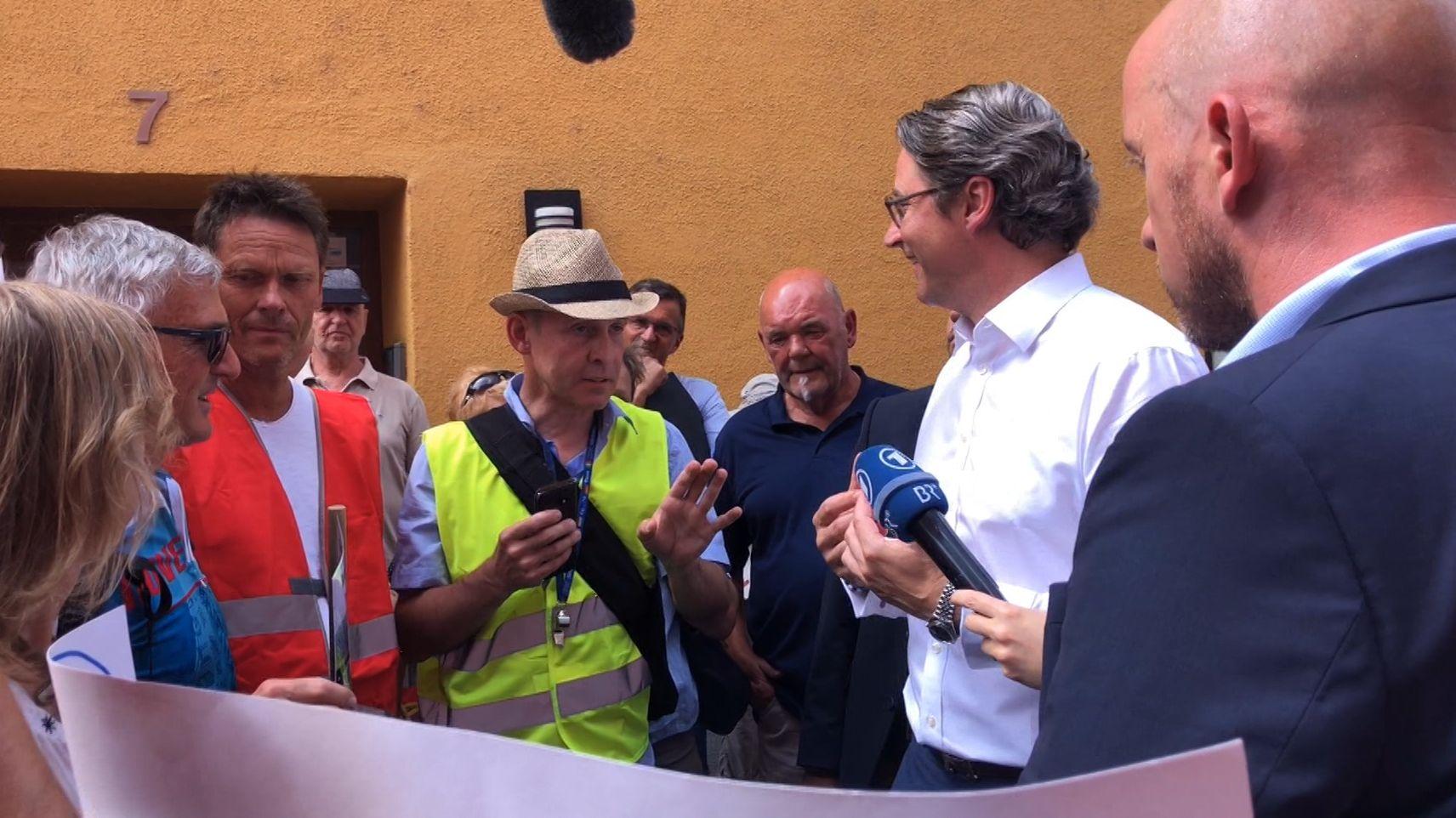 Bundesverkehrsminister Scheuer in Rosenheim