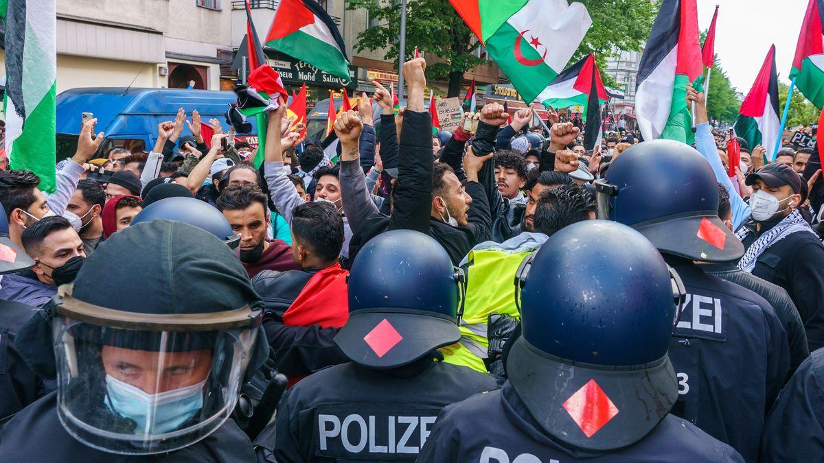 Anti-israelische Kundgebung in Berlin
